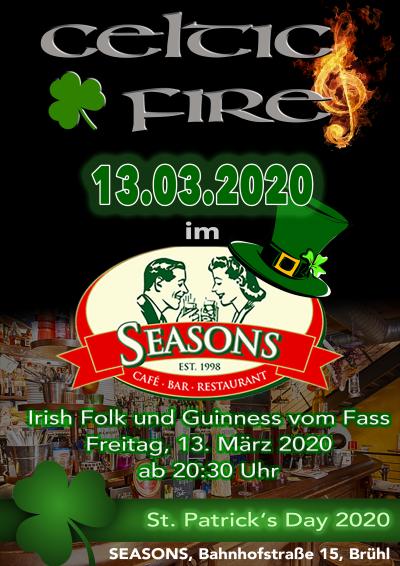 Celtic Fire am 13.03.2020 im Seasons